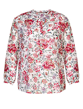 PLUS Floral Tunic with Silk Clothing