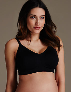 2 Pair Pack Maternity Non-Wired Santoni Full Cup Bras