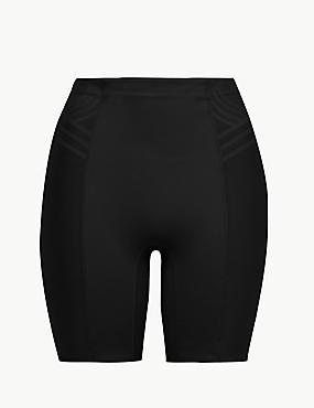 Firm Control Magicwear™ Geometric Thigh Slimmer, BLACK, catlanding