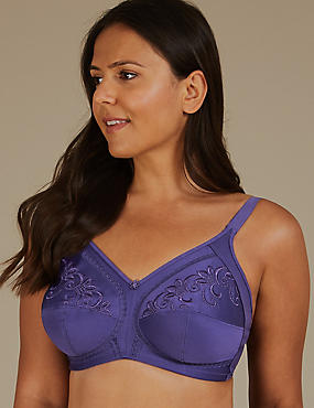 Post Surgery Non Padded Full Cup Bra A G Bright Violet Catlanding