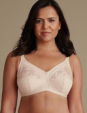 Post Surgery Total Support Non-Wired Full Cup Bra B-G