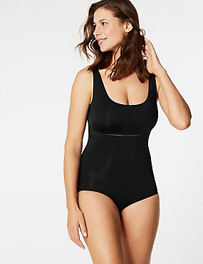 Light Control Sheer Shaping Body, BLACK, catlanding