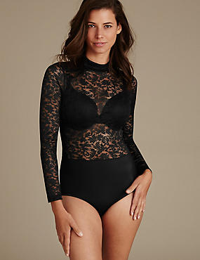 Light Control Long Sleeve Lace Body