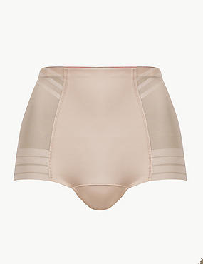 Firm Control Magicwear™ Geometric Low Leg Knickers, ALMOND, catlanding