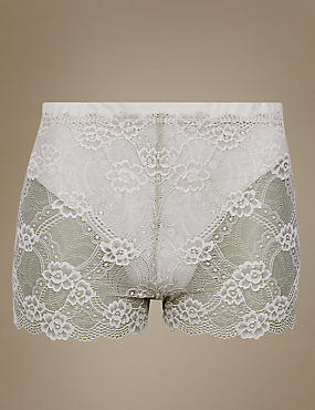 Firm Control Floral Lace Shorts