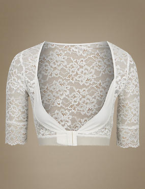 Light Control Floral Lace Armwear, WINTER WHITE, catlanding