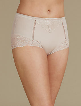 Medium Control Lace High Leg Knickers