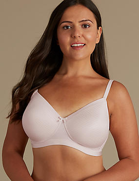 Post Surgery Sumptuously Soft Padded Full Cup Bra A-E, PALE ROSE, catlanding