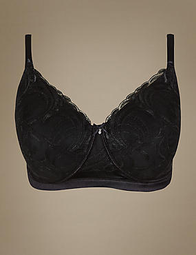 Post Surgery Luxury Embroidery Padded Full Cup Bra A-E