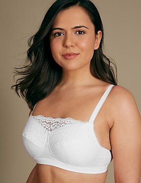 Post Surgery Vintage Lace Padded Full Cup Bra