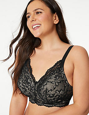Post Surgery Lace Padded Full Cup Bra A-E