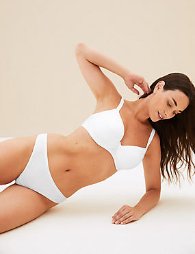 Sumptuously Soft Full Cup T-Shirt Bra A-DD, WHITE, catlanding