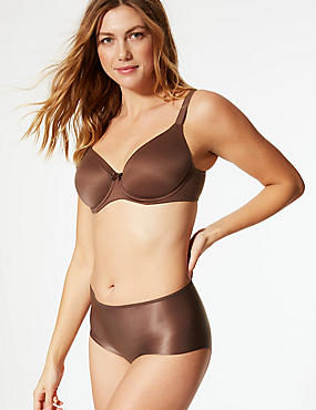 Sumptuously Soft Padded Full Cup T-Shirt Bra A-DD, COFFEE, catlanding