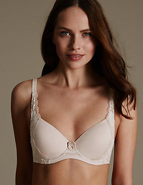 Daisy Cotton & Lace Full Cup T-Shirt Bra A-DD