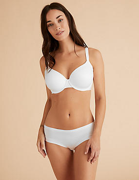 Sumptuously Soft Padded Full Cup T-Shirt Bra A-DD, WHITE, catlanding