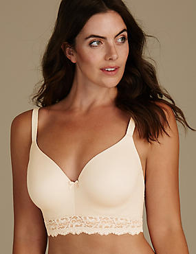 Sumptuously Soft Padded Full Cup T-Shirt Bra A-E, ALMOND, catlanding