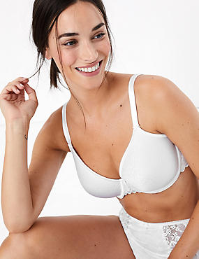 Lace Underwired Full Cup Bra A-DD