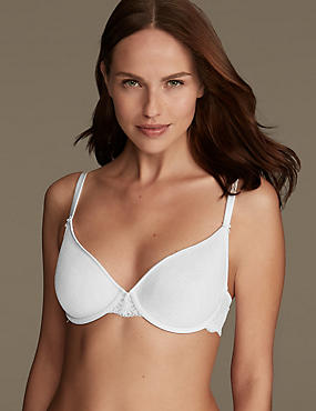 Jacquard Lace Light as Air™ Spacer Balcony Full Cup Bra A-DD