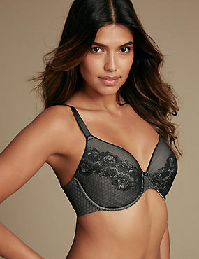 All Over Lace Spacer Padded Full Cup Bra A-E