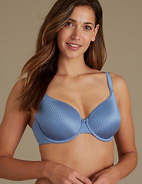 Shape Define Padded Full Cup T-Shirt Bra A-E, DUSTY BLUE, catlanding
