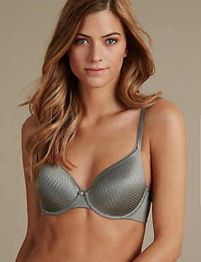 Zigzag Padded Underwired Full Cup Bra A-E