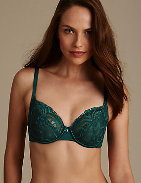 Luxury Embroidered Non Padded Full Cup Bra