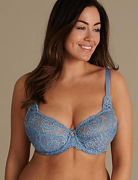 All-Over Fleur Lace Underwired Non Padded Bra B-E