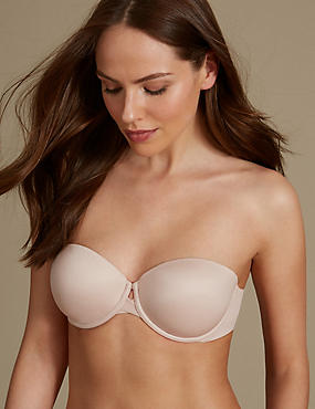 Padded Push-Up Strapless Bra A-E
