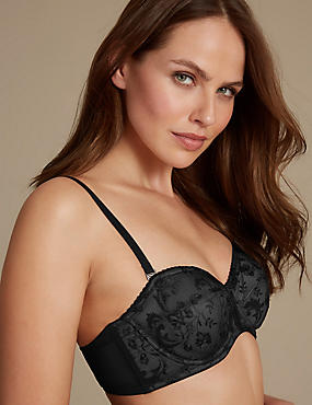 Renaissance Embroidered Non Padded Strapless Bra A-D