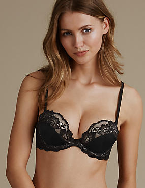 Glamour Low Front Push-Up Strapless Bra A-E