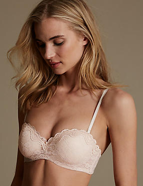 All Over Lace Bandeau Strapless Bra A-E