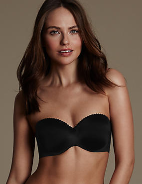 Perfect Fit Memory Foam Padded Strapless Bra A-E