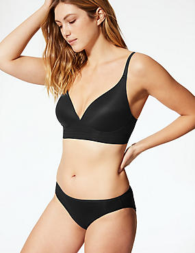 Longline Cross Over Padded Plunge Bra A-E