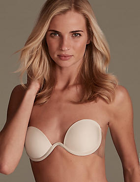 Stick On Adhesive Backless Bra, NUDE, catlanding