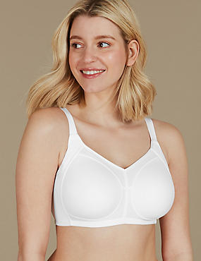 Side Support Non-Wired T-Shirt Bra B-G, WHITE, catlanding