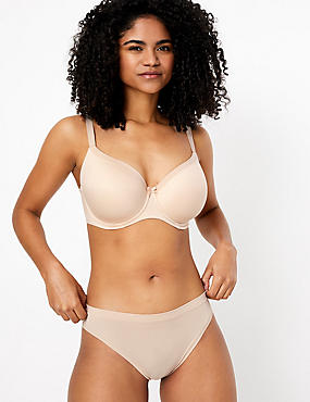 Sumptuously Soft Underwired Striped Full Cup T-Shirt Bra DD-G