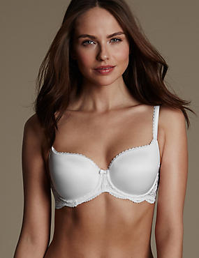 Perfect Fit Memory Foam Padded Underwired Balcony Bra AA-E