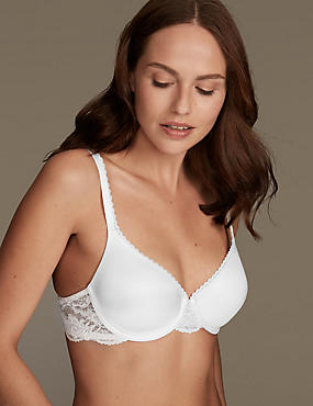 Perfect Fit Memory Foam Padded Full Cup T-Shirt Bra A-E