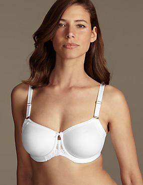 Smoothing Fleur Lace Underwired Non-Padded Full Cup Bra DD-G