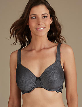 Lace Wing Full Cup Bra DD-GG