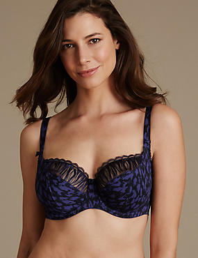 Embroidered Non-Padded Balcony Bra DD-G