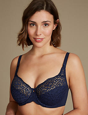 Vintage Lace Non-Padded Full Cup Bra DD-H