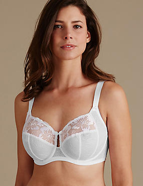 Embroidered Set with Non-Padded Full Cup DD+