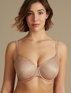 Smoothing Jacquard Full Cup Bra DD-GG