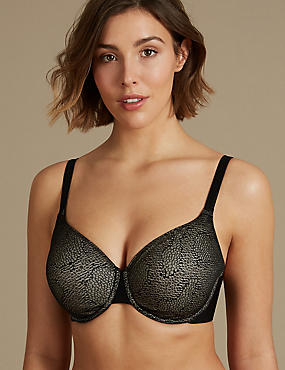 Jacquard Lace Full Cup Bra DD-GG