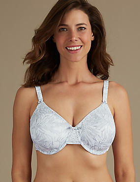 Smoothing Lace Minimiser Full Cup Bra C-G