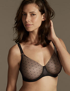Smoothlines™ Lace Back Non Padded Underwired Minimiser Full Cup Bra C-G