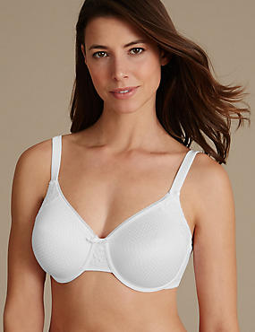 Smoothing Minimiser Non-Padded Full Cup Bra C-G, WHITE, catlanding