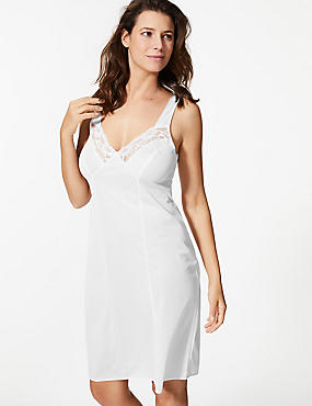 Floral Lace Trim Full Slip