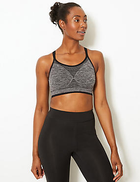 Medium Impact Non-Padded Strappy Santoni Seamfree Sports bra